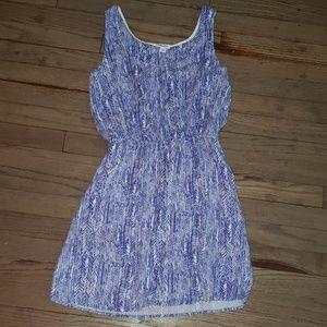Splendid Elastic Waistband Lined Printed Dress